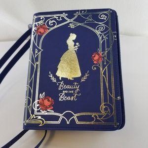 DISNEY Beauty and the Beast Blue Book Purse
